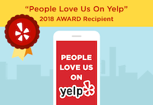 People love us on Yelp, 2018 Award Recipient
